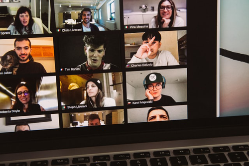 A Zoom meeting with students. Zoom has a number of privacy and security issues.