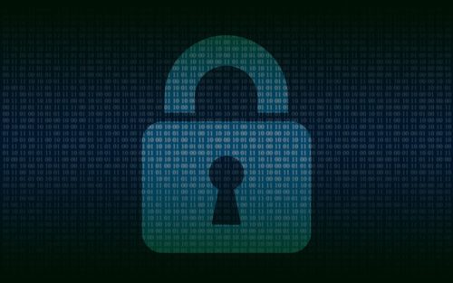A stylized padlock against a blue-green, binary-code background. Representing the cyber threats Canadian organizations are facing.