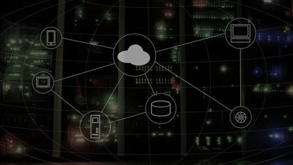 Cloud computing network diagram.