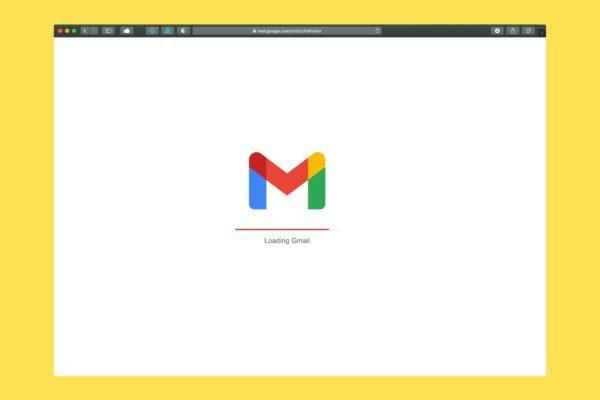 Gmail loading screen.