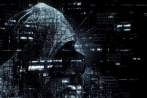 Hacker and cybercrime concept image.