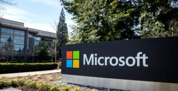 Microsoft sign. Windows 11 is coming soon.